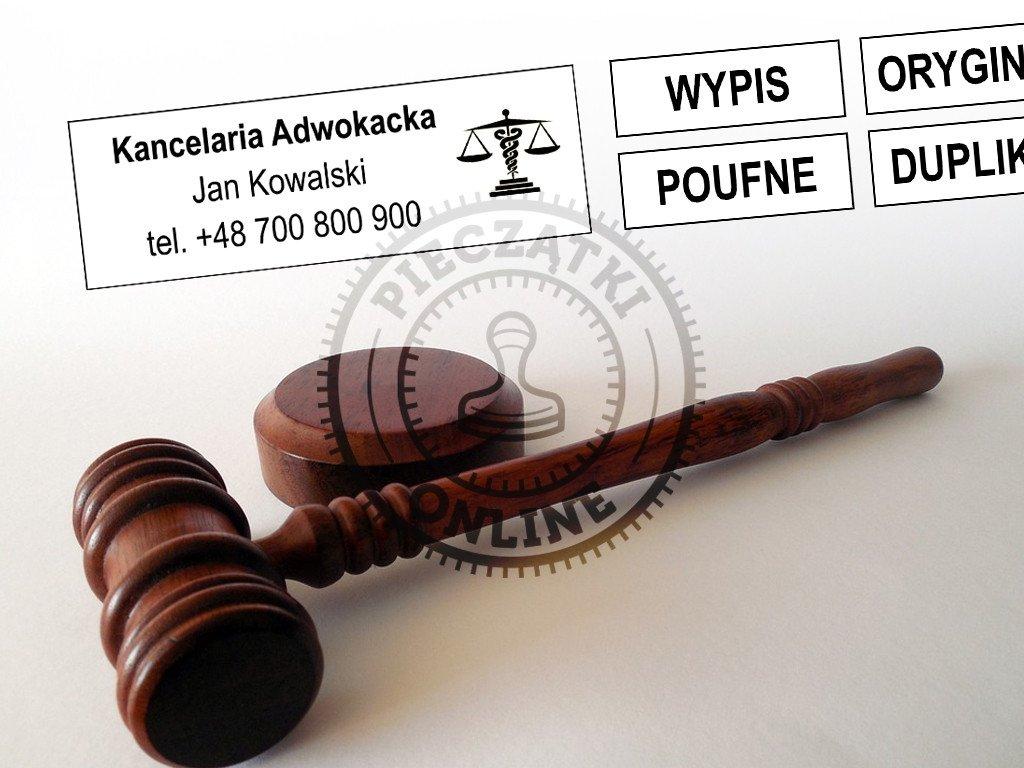 pieczątka kancelarii adwokackiej