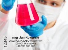 pieczątka diagnosty laboratoryjnego