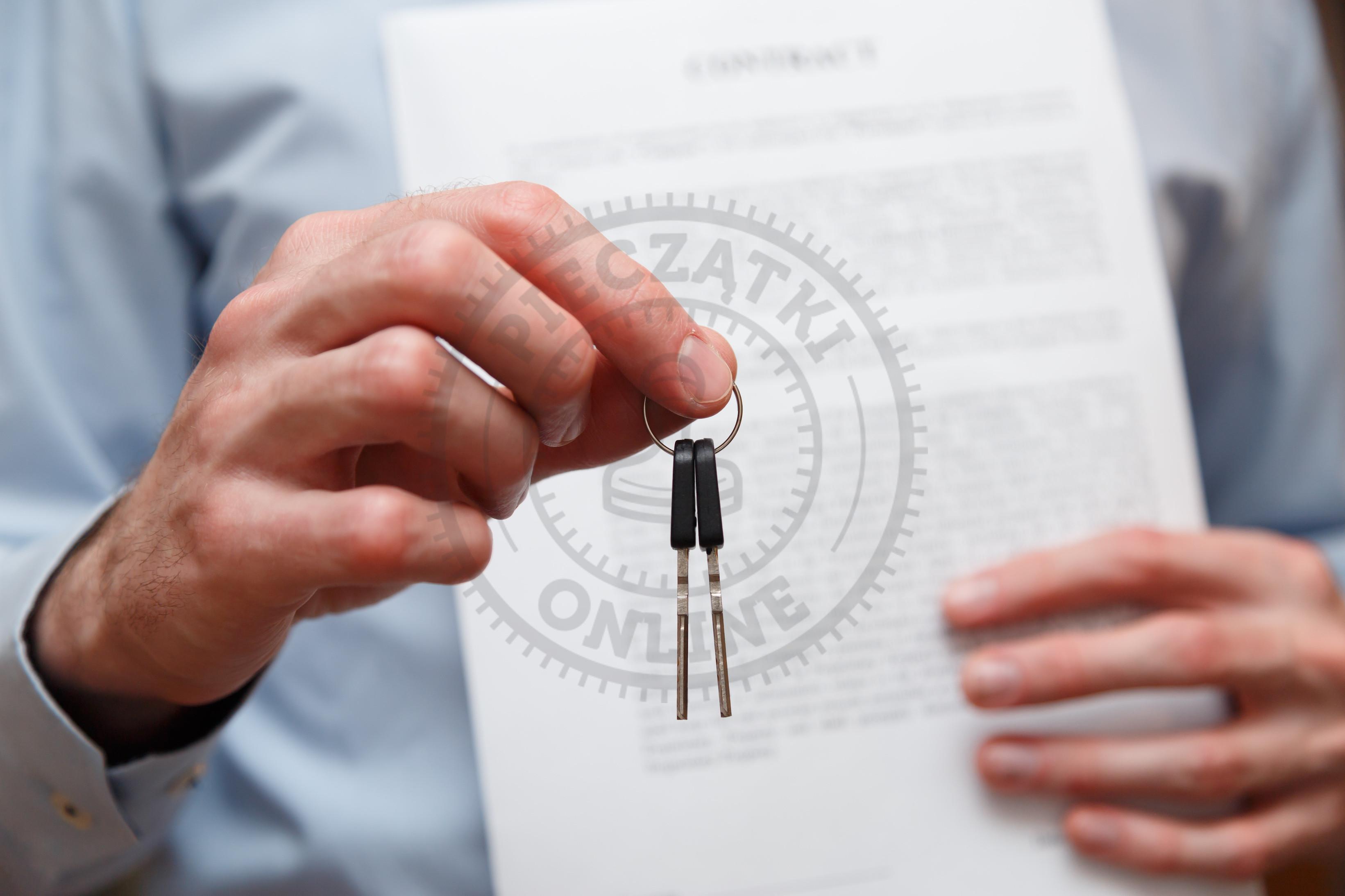 umowa leasingowa a pieczątka firmowa